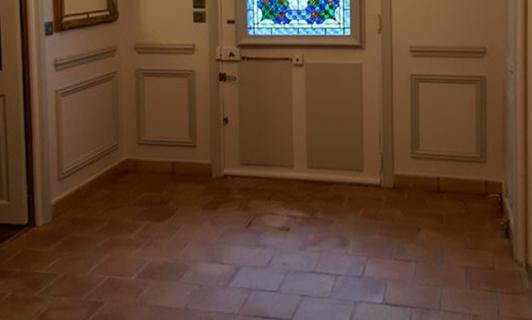 Rénovation sol et mur dans une maison